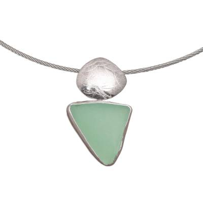 Hand Crafted Modern Sea Glass Necklace