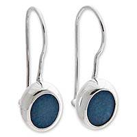 Opal drop earrings, 'Java Sea' - Opal and Sterling Silver Drop Earrings