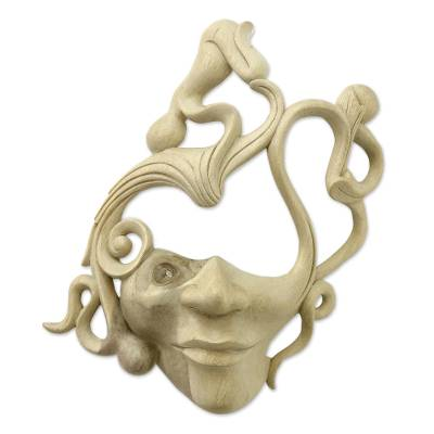 Artisan Crafted Modern Wood Mask