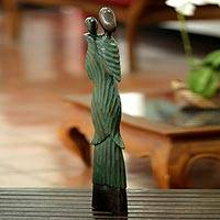 Wood sculpture Love My Baby Indonesia