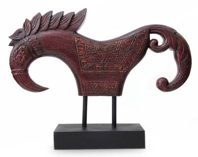 Wood sculpture, 'Jaran Kepang Horse' - Wood sculpture