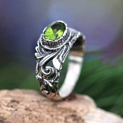 sterling silver dove necklace instructions - Sterling Silver and Peridot Ring