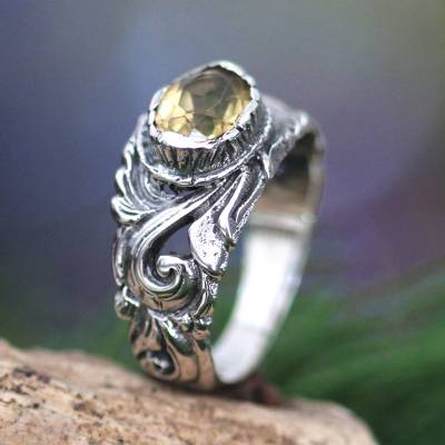 d&d silver ring weight gain - Citrine and Sterling Silver Ring