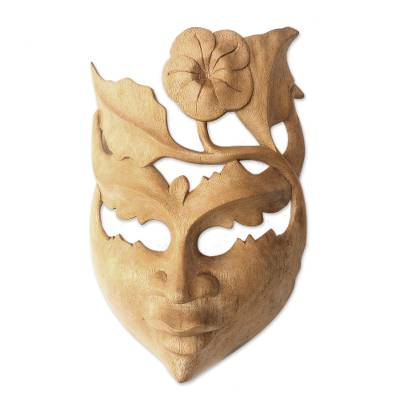 Floral Wood Wall Mask