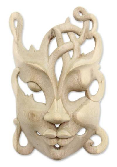 Hand Crafted Modern Wood Mask