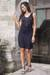 Jersey dress, 'Ebony Shimmy' - Jersey dress thumbail