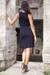 Jersey dress, 'Ebony Shimmy' - Jersey dress (image 2e) thumbail