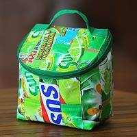 Recycled wrapper insulated bag,