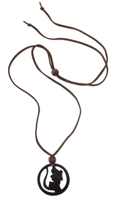 Lizard Coconut Shell Necklace