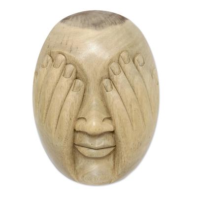 Hibiscus Wood Wall Mask