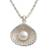 Cultured pearl pendant necklace, 'Oyster Secrets' - Hand Made Pearl and Sterling Silver Pendant Necklace (image 2a) thumbail