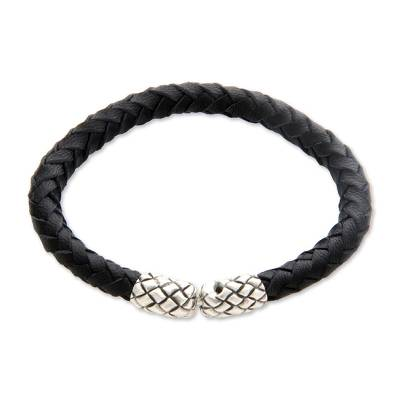 Unique Leather Braided Bracelet