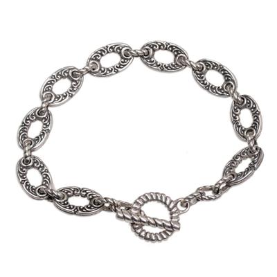 Unique Sterling Silver Link Bracelet