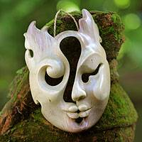 Wood mask, 'The Collaboration' - Wood mask