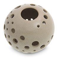 Ceramic candleholder Sugar Snowball Indonesia
