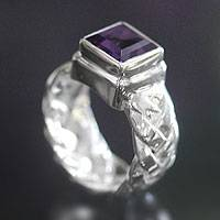 Amethyst solitaire ring, Light of Wisdom