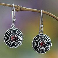 Garnet earrings,