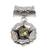 Peridot pendant, 'August Poppy' - Fair Trade Floral Sterling Silver and Peridot Pendant (image 2a) thumbail
