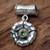 Peridot pendant, 'August Poppy' - Fair Trade Floral Sterling Silver and Peridot Pendant (image 2c) thumbail