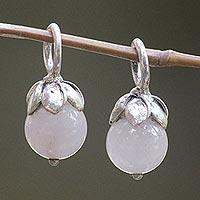 Rose quartz earring charms,