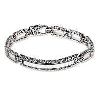 Mens sterling silver bracelet, Borobudur Warrior