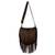 Suede shoulder bag, 'Java Stars' - Handmade Fringed Leather Shoulder Bag from Bali thumbail