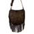Suede shoulder bag, 'Java Stars' - Handmade Fringed Leather Shoulder Bag from Bali (image 2b) thumbail