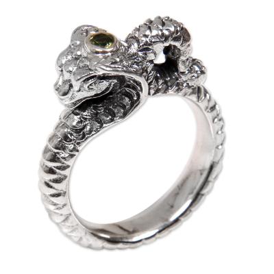 Peridot band ring