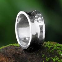 Sterling silver band ring, 'Love Testimonial' - Sterling Silver Band Ring