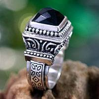 Featured review for Onyx cocktail ring, Midnight Temple