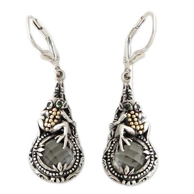 Prasiolite and Sterling Silver Dangle Earrings