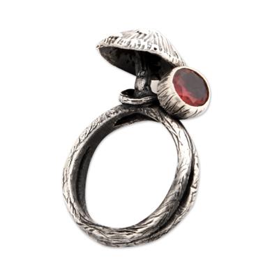 Garnet cocktail ring