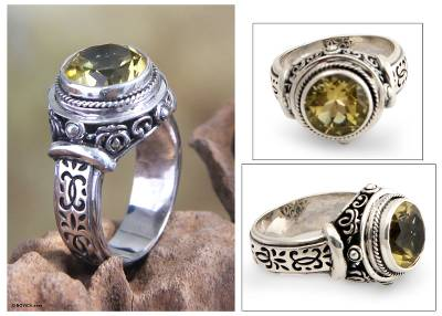 silver sets for sale - Sterling Silver and Lemon Topaz Ring