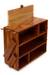 Wood kitchen organizer, 'Balinese Sunflower' - Wood kitchen organizer (image 2a) thumbail