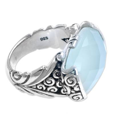 Sterling Silver and Chalcedony Cocktail Ring