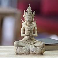 Wood statuette, 'The Lord Indra' - Wood statuette
