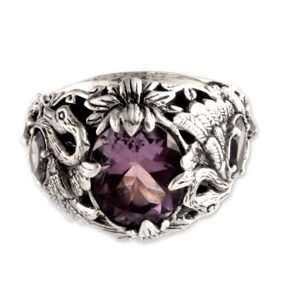 Amethyst and Garnet Cocktail Ring