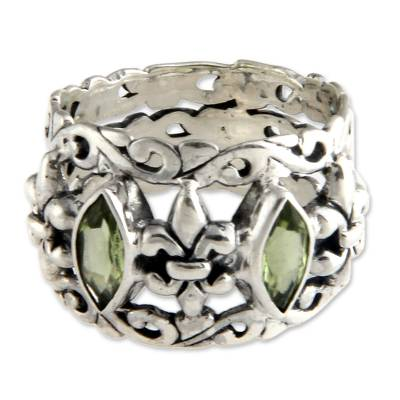 Sterling Silver and Peridot Ring from Indonesia