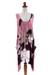 Dress, 'Harmony in Pink' - Artisan Crafted Floral Patterned Dress (image 2c) thumbail