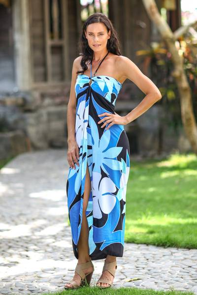 Dress, 'Blue Balinese Grace' - Dress