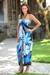 Dress, 'Blue Balinese Grace' - Dress thumbail