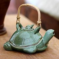 Featured review for Ceramic teapot, Mother Sea Turtle