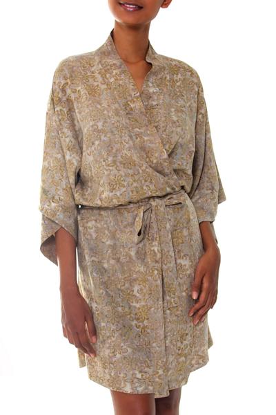 Floral Batik Patterned Robe