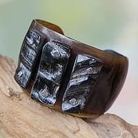 Bull horn cuff bracelet,