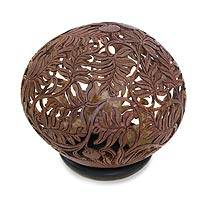 Coconut shell sculpture, 'Wild Shrubs' - Coconut shell sculpture