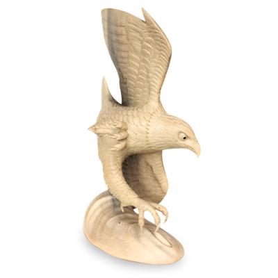 Unique Wood Bird Sculpture