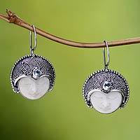 Blue topaz drop earrings, 'Royal Lady' - Sterling Silver and Blue Topaz Drop Earrings