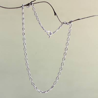 Sterling silver chain necklace, 'Kuta Muse' - Fair Trade Sterling Silver Chain Necklace