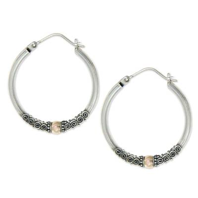 Fair Trade Gold Accented Sterling Silver Hoop Earrings