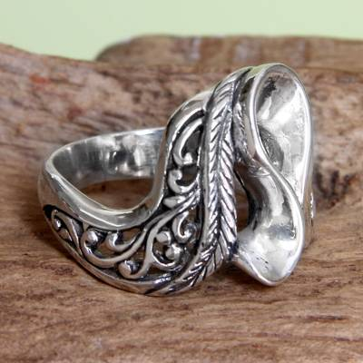 om ring silver dollar lake - Sterling Silver Cocktail Ring